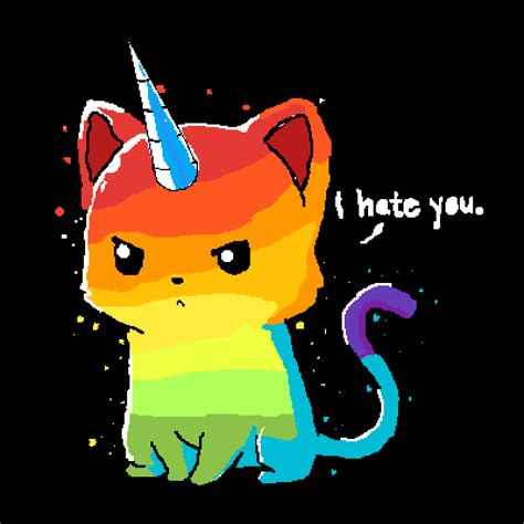 pixilart angry unicorn cat  lachy  fairy