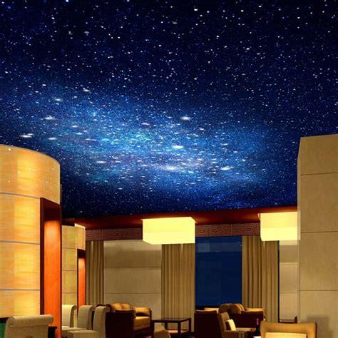 night sky bedroom wallpaper 3d star nebula night sky large suspended ceiling painted wall tv backdrop wallpaper