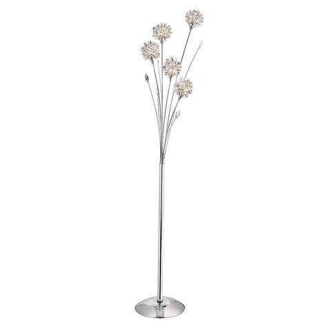 3465CC Dubai 5 Light Chrome Floor Lamp With Spiked Shades