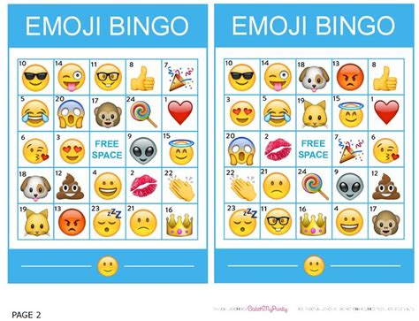printable emoji games http catchmyparty com blog free printable emoji bingo