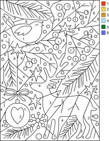 color by number s free coloring pages color by number