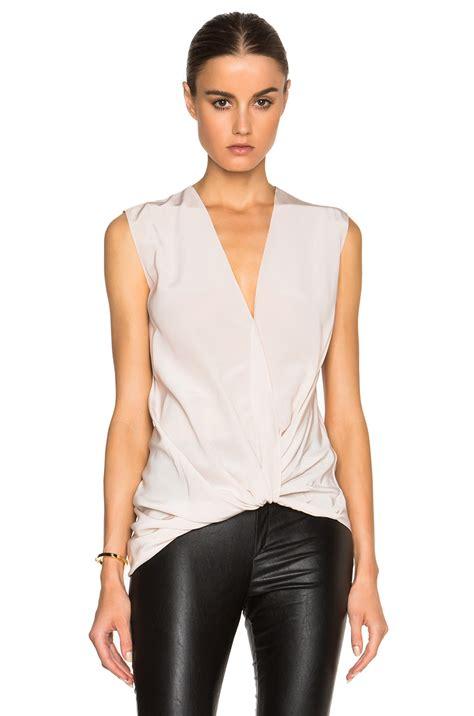 White Silk Blouse V Neck by White Silk V Neck Blouse Lace Henley Blouse