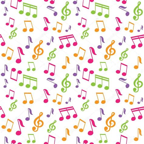 pattern notes vector seamless pattern with music notes stock vector