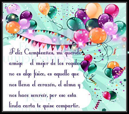 imagenes feliz cumpleaños mejor amigo feliz cumplea 241 os para el mejor amigo con mensajes en carta