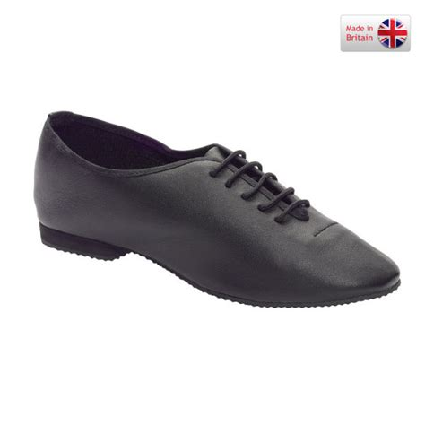 childrens black leather jazz shoes with rubber sole