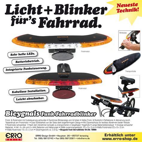 Led Fahrrad Rücklicht Mit Blinker by Bicygnals Fahrrad Blinker Nicht Mehr Verf 252 Gbar