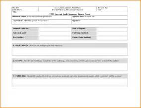 report form template 35 excellent audit report form template exles thogati