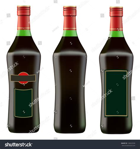 red martini bottle green bottle of red martini on white background vector