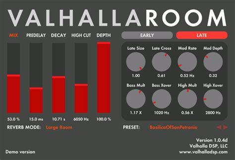 valhalla room reverb review valhalla dsp valhallaroom reverb plugin gets room mode