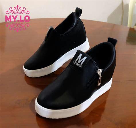 jual sepatu gucci kets sneaker wedges flat wanita import mylo ms0712 baru sentrapedagang