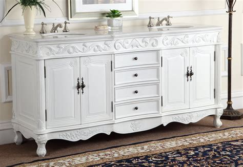 Antique White Double Vanity 72 Quot Antique White Double Sink Beckham Bathroom Sink Vanity