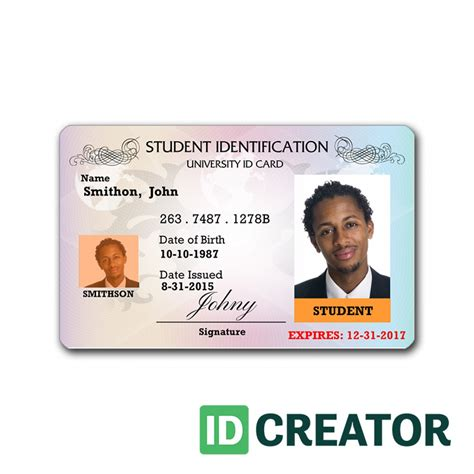 id card format in word best template design images