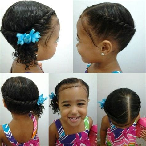 hairstyles mixed girl mixed girls hairstyles flat twist into a side pony tail