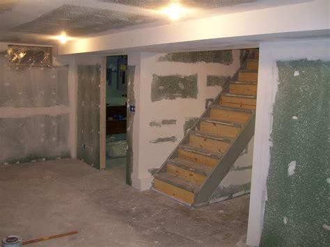 drywall in basement awesome drywalling a basement part 1 awesome drywalling