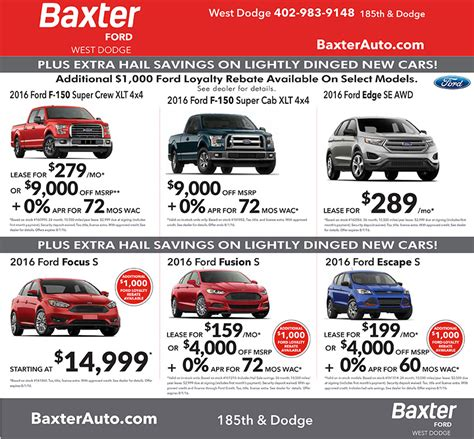 newspaper car ads auto newspaper ads baxter ford