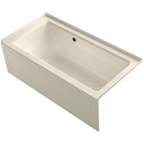 Tub Prices Kohler Expanse 5 Ft Right Drain Soaking Tub In Almond K