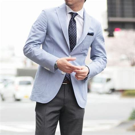 light blue sports jacket light blue sport coat polka dot tie soletopia