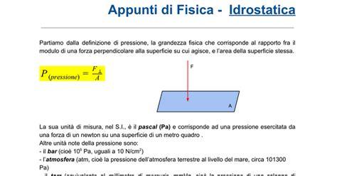 vasi comunicanti archimede appunti di fisica idrostatica docs