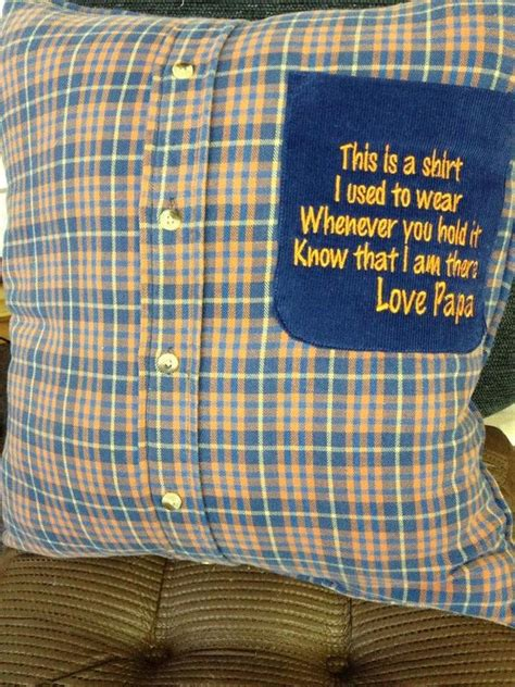 memory keepsake pillows created from clothing of a loved