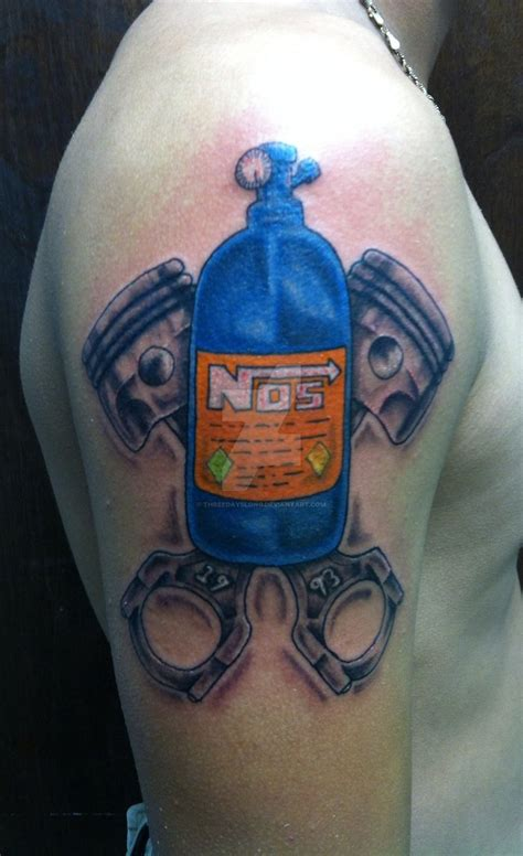 drag racing tattoos racing nos by threedayslong on deviantart
