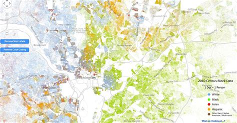 washington dc race map incredibly detailed map shows race segregation across