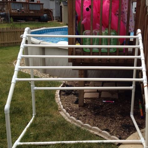Pvc Pipe Towel Drying Rack by 17 Best Images About Pool On Pvc Pipes The