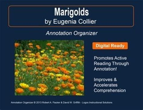 themes of the story marigolds reading comprehension comprehension and short stories on