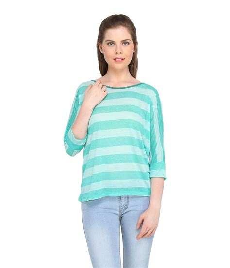 globus green cotton printed v buy globus green cotton tops at best prices in