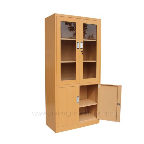 Metal Cabinet With Glass Doors Glass Door Office Cabinet Luoyang Hefeng Furniture