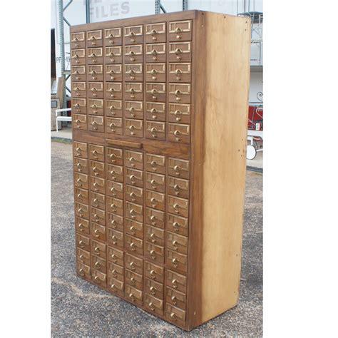 wooden card file cabinet vintage 90 card file cabinet ebay