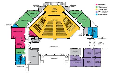 church floor plan church floor plans