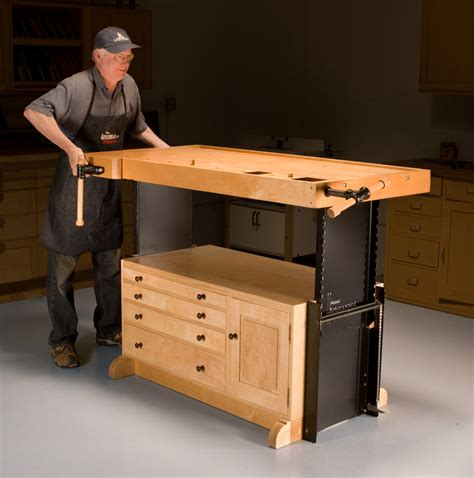 work bench wood adjustable workbench popular woodworking magazine