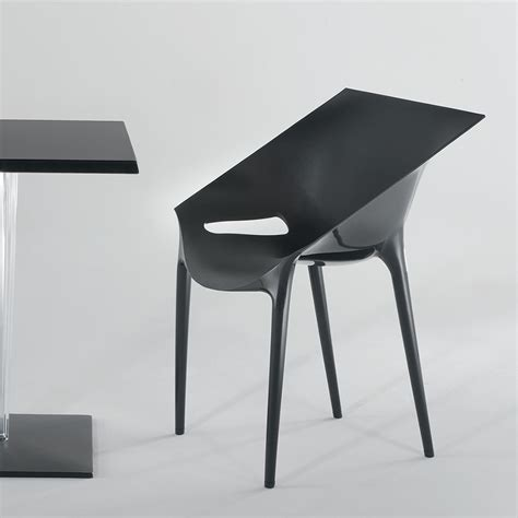 Fauteuil Noir 2684 by Dr Yes Fauteuil Design Kartell Empilable En