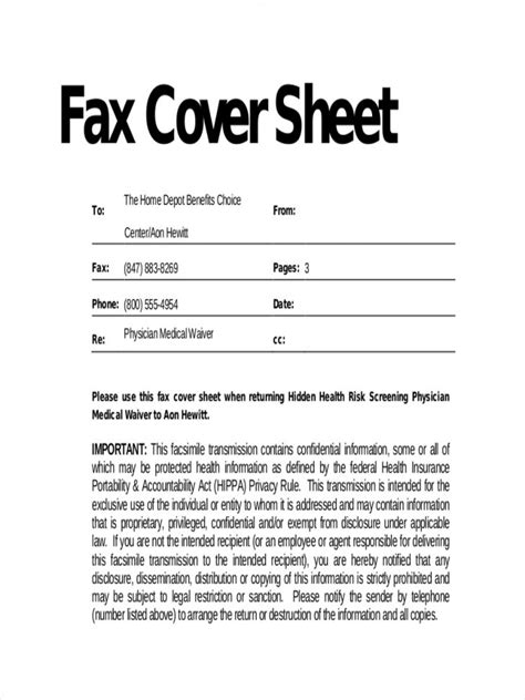 printable fax cover sheet with confidentiality statement cover medical fax cover sheet