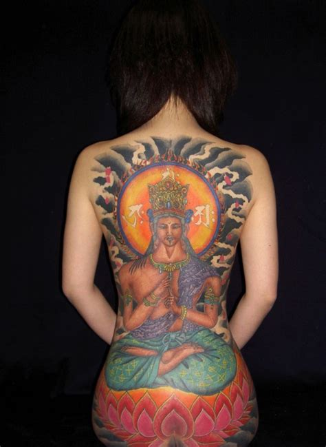 egyptian flower tattoo lotus flower and goddess on back