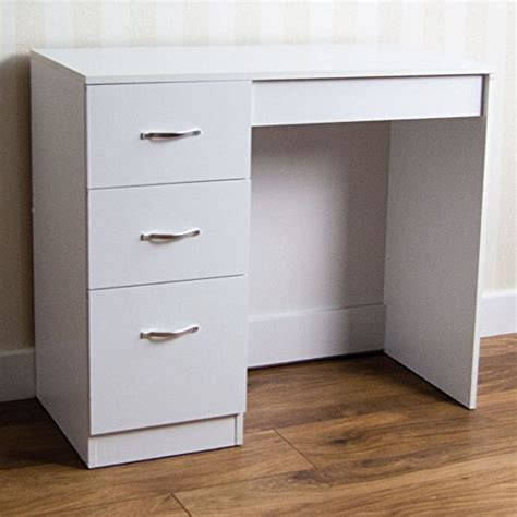 cheap white desk with drawers home discount white 3 dressing makeup desk