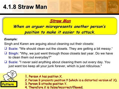 4 1 8 straw man exle singh