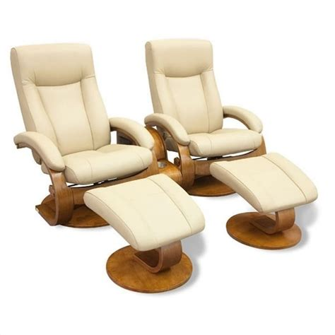 oslo recliner mac motion oslo 2seat swivel recl with ottmn in