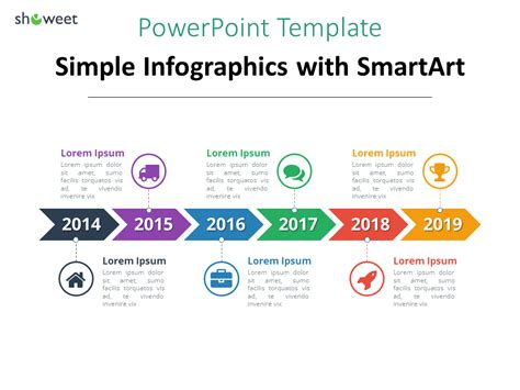 smartart templates for powerpoint exle of simple timeline template using smartart