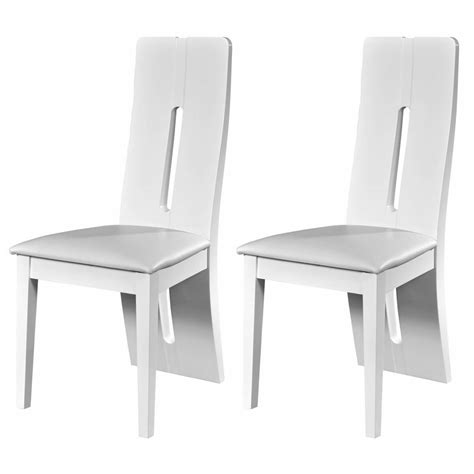White Gloss Dining Chairs Floyd Faux Leather White High Gloss Dining Chairs Fads