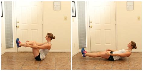 boat pose crunches core burpees the workout mama