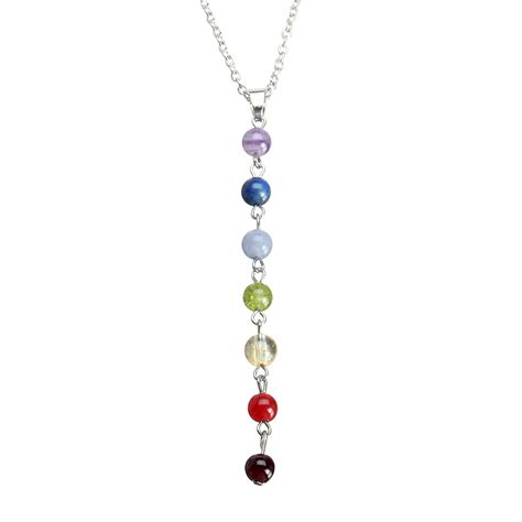 Multi Color Pendant Necklace multicolor gemstone pendant necklace jewelry