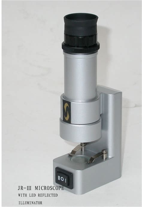 Microscope Poertable portable microscope magnification 60x top bottom illumination jriii one stop nature shop