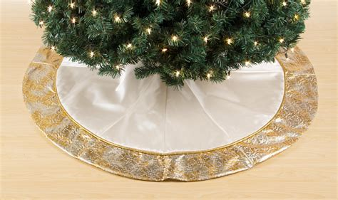 jaclyn smith glimmer glisten 52in ivory tree skirt