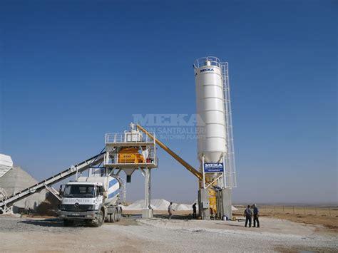 Mobile Plans by C 100 Compact Concrete Batching Plant Meka Concrete Plants