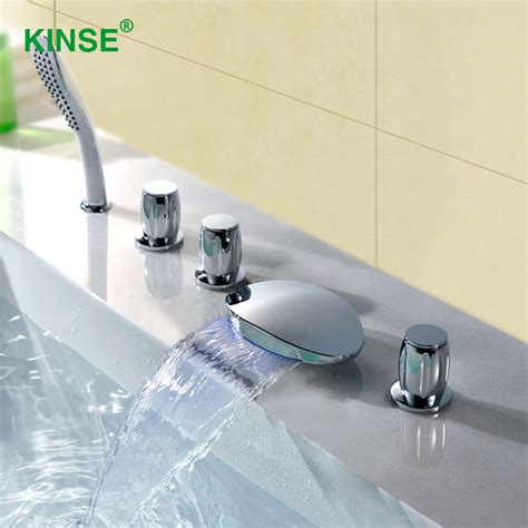 one piece bathtub faucet kinse brass material chrome finish five piece bathtub