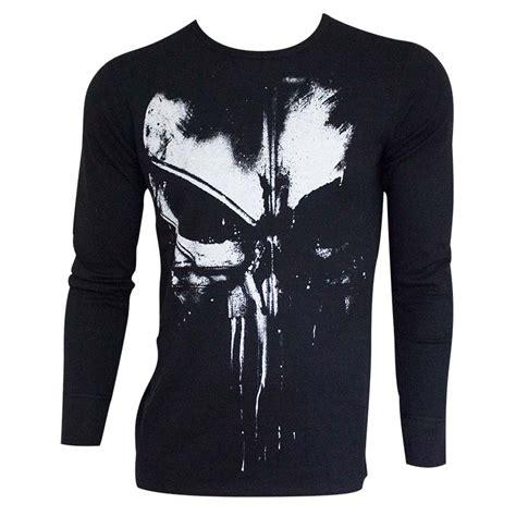 T Shirt Punisher Logo the punisher s black distressed logo sleeve