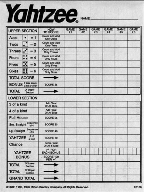 yahtzee score sheets to print pinterest the world s catalog of ideas