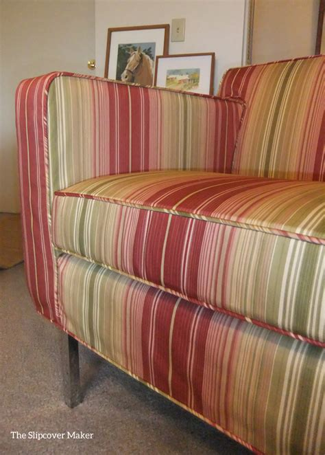 striped slipcovers waverly stripe slipcover for dwr armchair the slipcover