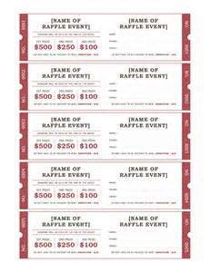 ticket template for raffle template of raffle ticket